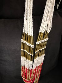 White Red and Gold Necklace Costume Jewelry Upper Marlboro, 20772