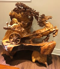 Chinese hand carved wood sculpture  Cambridge, N3C 2P4