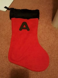 Letter A Christmas Stocking