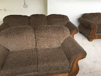 two corduroy brown suede sofa and loveseat Miami