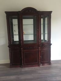 brown wooden framed glass display cabinet Richmond Hill, L4C 0P9
