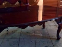 Antique wooden coffee table and end table