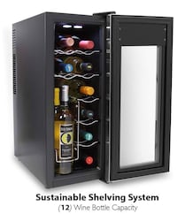 12 Bottle Wine Cooler Chiller Refrigerator - New in box!