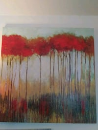 red and white abstract painting Prineville, 97754