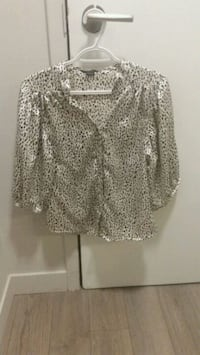Small Speckled Faux silk blouse