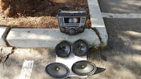 black and gray car subwoofer Los Angeles, 91325