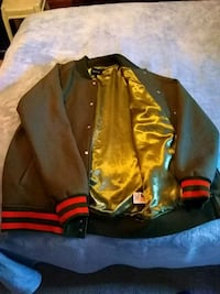 brown and black leather zip-up jacket Grand Junction, 81504