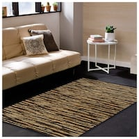 Superior Horizons Collection Area Rug Abstract Striped - 4' x 6' Toronto