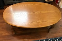 Oval brown wooden coffee table Columbus, 43201
