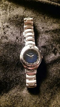 Fossil blue stainless steel watch
