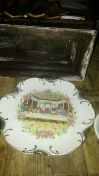Antique lords last supper plate 24kt gold line Hattiesburg, 39402
