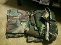 green and black camouflage backpack Portage, 15946