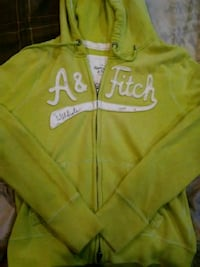 Green and whit zipup Abercrombie and fitch hoodie Karthaus, 16845