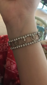 Silver heart-shaped bracelet