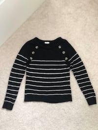 ARDENE Black Stripped Sweater Markham, L6B 0R9