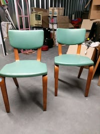 Vintage Thonet pair. MCM - Deco. Great shape. Teal!! Cornelius, 28031