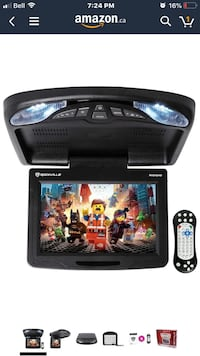 "Rockville RVD12HD-BK 12"" Black Flip Down Car Monitor DVD/USB/SD Player + Games Toronto, M3K 1H5"