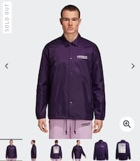 Adidas Kaval Wind Breaker (Purple) - Size L