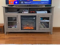 """58"""" Highboy TV stand with Fireplace"""