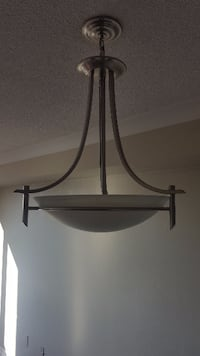 Silver with Frosted Shade Pendant Chandelier ... $