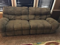 brown suede 3-seat sofa Odessa, 79764