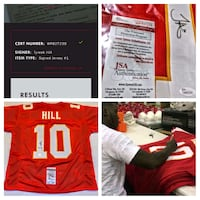 Certified authentic signed Jersey. Serial# Kansas City, 64106
