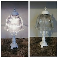 White Shabby Chic Table Lamp Whitby