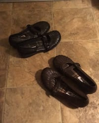 Leather shoes slip on's   7 1/2