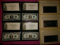 2 dollar gold plated bills..also gold plated notes Henderson, 89012