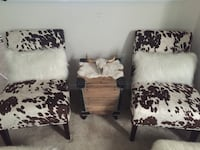 Cowhide pattern accent chairs Manassas