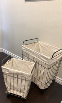 Metal Laundry Basket co-ord Set ( with wheels )