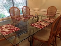 Formal Dining Room Glass Top Table and Six Chairs McAllen, 78504
