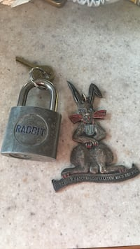 Rabbit padlock and vintage rabbit from Germany Calgary, T3K 5T9