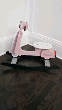 Used J.I.P. Wooden Rocking Scooter Chair, Pink   Arlington Heights