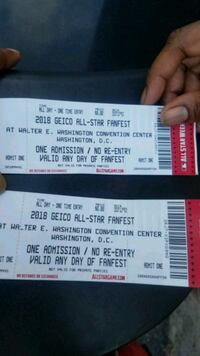 Two tickets to All Star experience Arlington