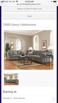 Darcy Cobblestone Sofa and Love  Balch Springs, 75181
