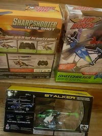 air hog switchblade, stalker air hog sharp shooter long shot  20 $ eac Brampton, L6P