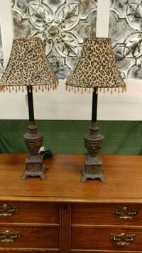 Lamps with Leopard Shade Lexington