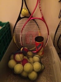 Yellow tennis balls and rackets Radcliff, 40160