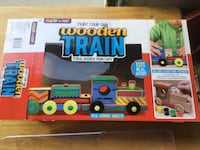 Wooden Train and Car Build it kits