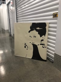 Audrey Hepburn from Breakfast at Tiffany's wall art.  46 km