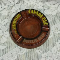 Vintage Glass Ashtray Canadian Brewery Advertising Mississauga