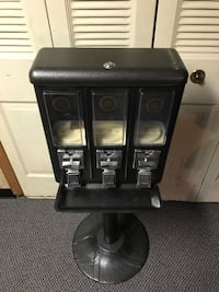Triple black candy dispenser on stand!