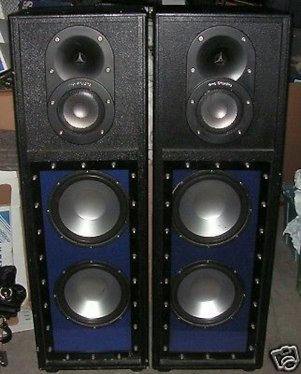 speakers studio pro dj sony tower dual twin ps woofers titanium coil voice speaker az valley used audio letgo golden