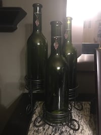Green Wine Bottle Votive Holders Centreville, 20121