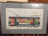 """Signed and numbered art print litho (approx 26.5 X 18"""") framed  Glendale, 91203"""