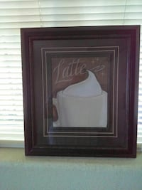 Latte painting with black frame