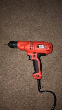 red and black Black&Decker corded power drill Columbus, 43223
