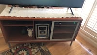 brown wooden framed glass cabinet Daly City, 94015