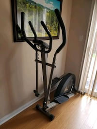 black and gray elliptical trainer good choice